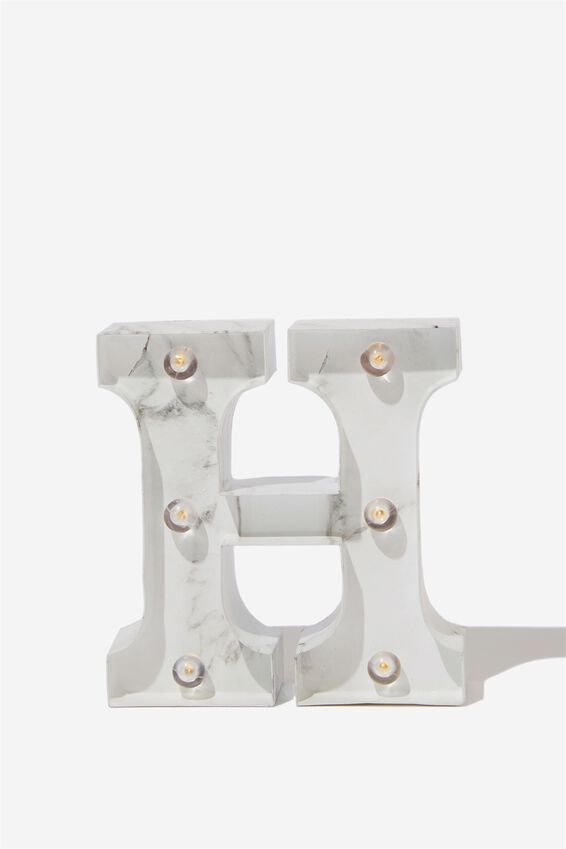 Mini Marquee Letter Lights 10cm, MARBLE H