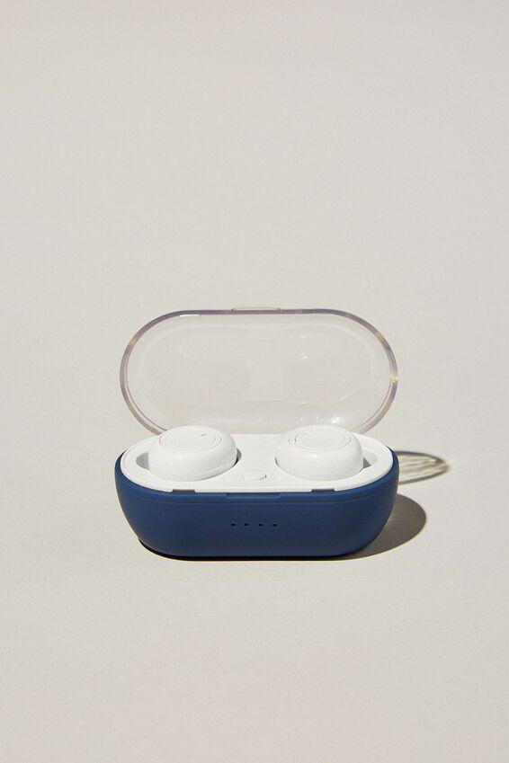 Wireless Earbuds, NAVY