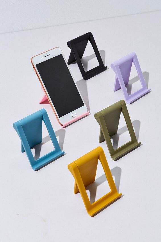 Collapsible Phone Stand, MUSTARD