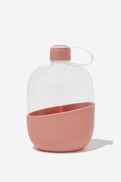 Happy Camper Drink Bottle, BLUSH