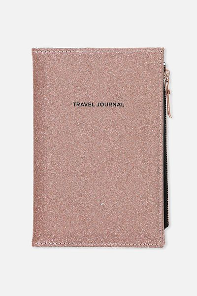 Passport wallets travel organisers typo travel zip journal rose gold glitter gumiabroncs Image collections