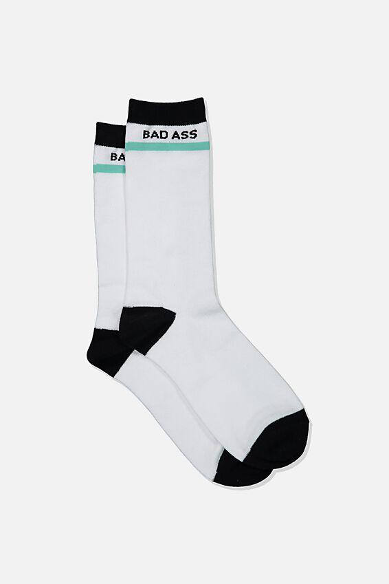 Mens Novelty Socks, STRIPE BAD ASS!