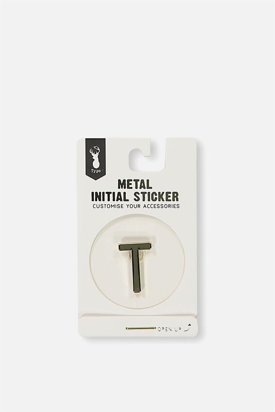 Metal Stickers, GOLD T