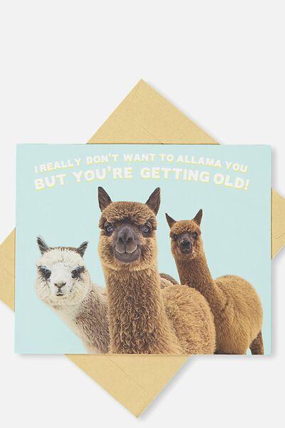 Funny Birthday Card, ALLAMA