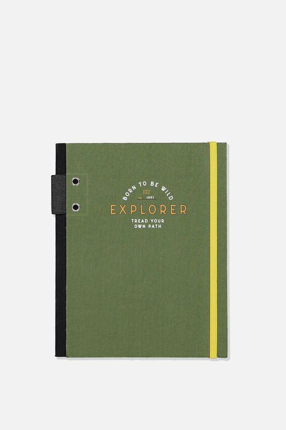 Explorer Notebook, BORN TO BE WILD EXPLORER KHAKI