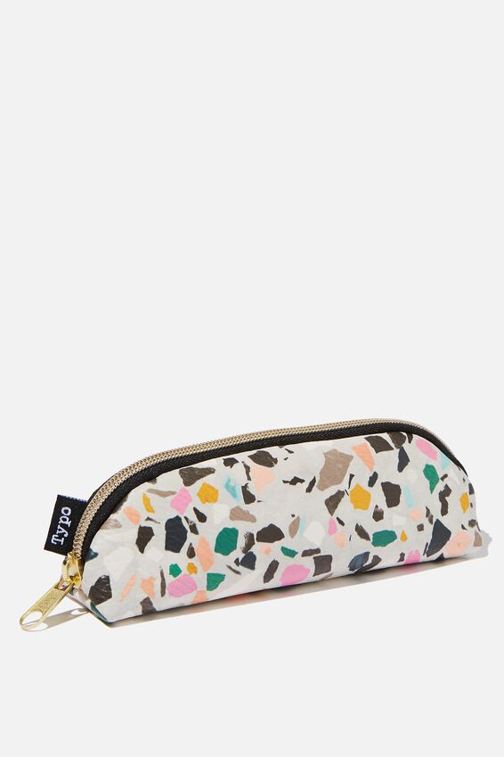 Mini Bailey Pencil Case, PINK TERRAZZO