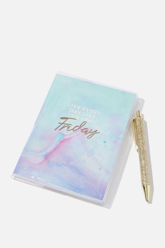 Mini Notebook & Pen Set, LIKE IT'S FRIDAY