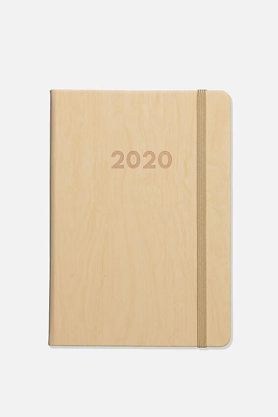 2020 A5 Weekly Buffalo Diary, LIGHT WOODGRAIN