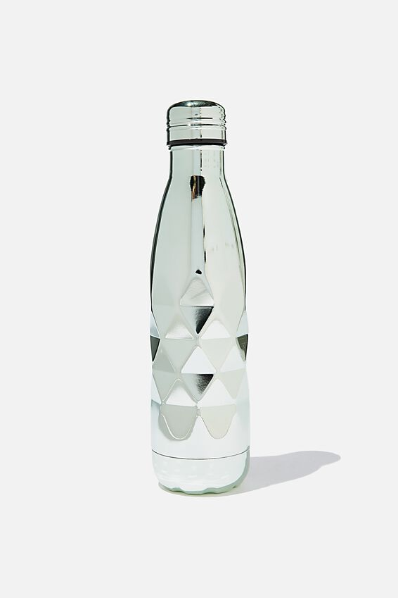 Premium Metal Drink Bottle, MINT FACETED