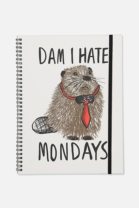 A4 Spinout Notebook Recycled, TBAR I HATE MONDAYS