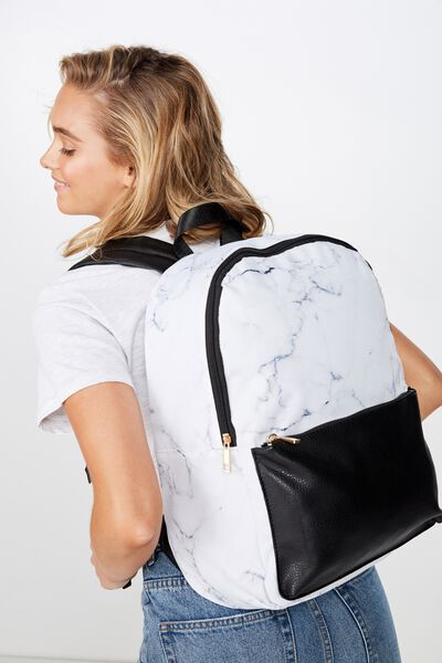 Everyday Backpack, NEO WHITE MARBLE