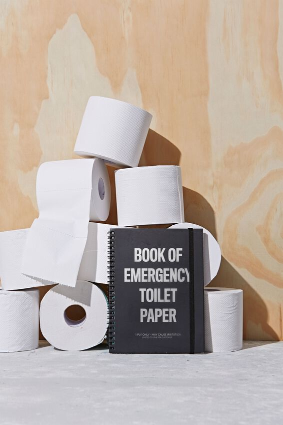 A5 Limited Edition Spinout Notebook, TOILET PAPER