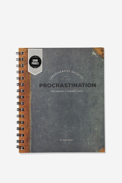 A5 Campus Notebook Grid Internal, PROCRASTINATION