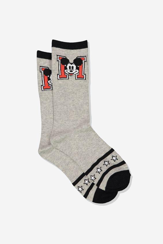 Disney Womens Novelty Socks, LCN MICKEY STRIPE