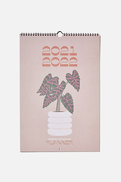 2021 22 Household Calendar, RUST FLORAL