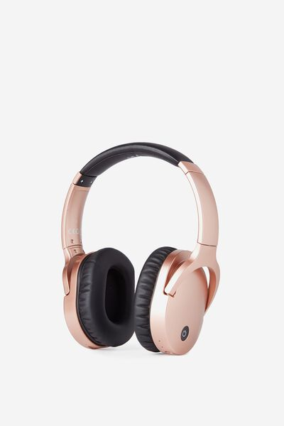 Block Out Noise Cancelling Headphone, ROSE GOLD