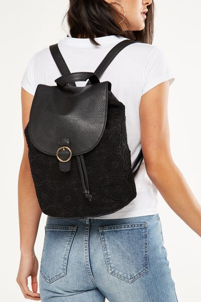 Pacific Backpack, BLACK LACE