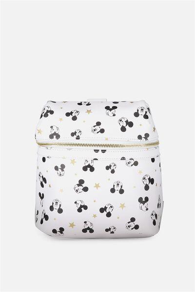 Micro Backpack, LCN WHITE MICKEY DITSY PRINT