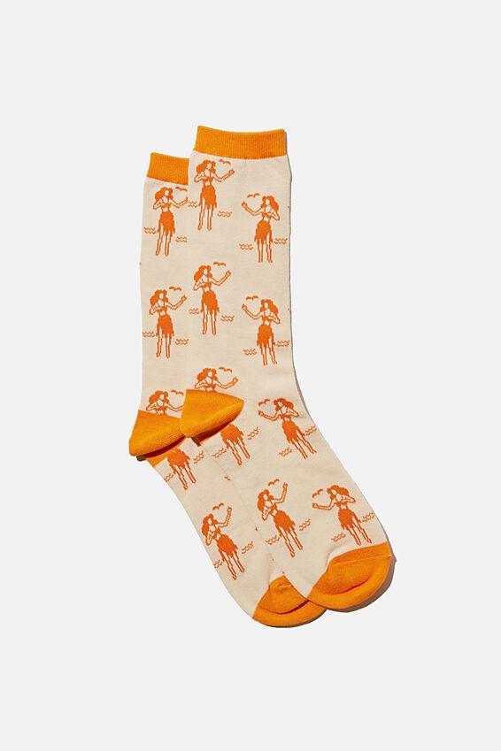 Socks, HULA GIRLS ORANGE