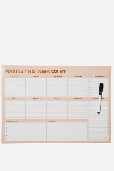 A3 Magnetic Planner, MAKING THIS WEEK COUNT