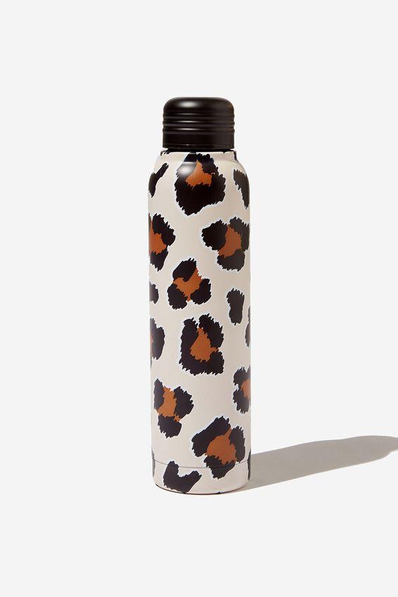 Small Metal Drink Bottle, LEOPARD PRINT