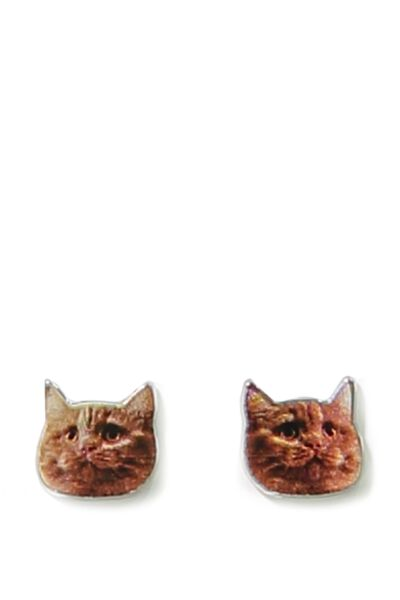 Novelty Earrings, CAT HEAD