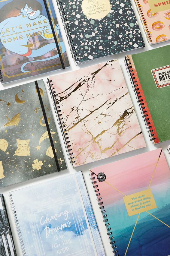 A4 Campus Notebook, PINK MARBLE