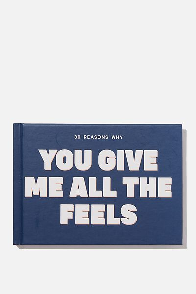 Mini Activity Journal, BLUE YOU GIVE ME ALL THE FEELS
