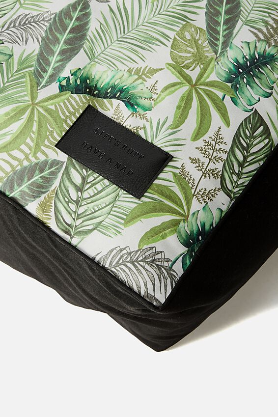 Large Printed Pet Bed, FERN FOLIAGE