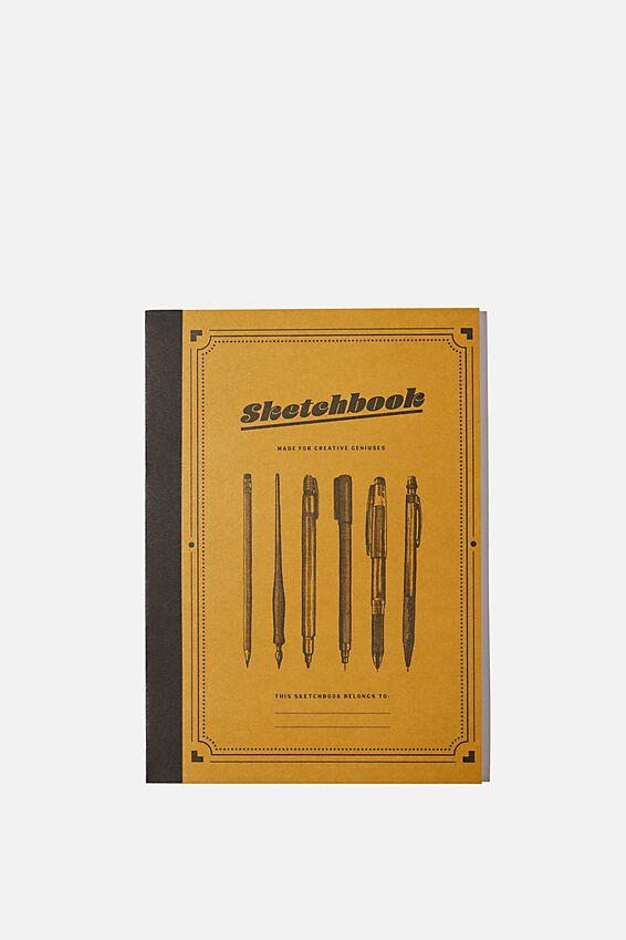 A5 Sketch Mate Book, YELLOW SKETCHBOOK