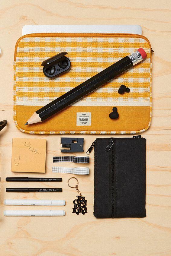 Archer Pencil Case, BLACK CANVAS
