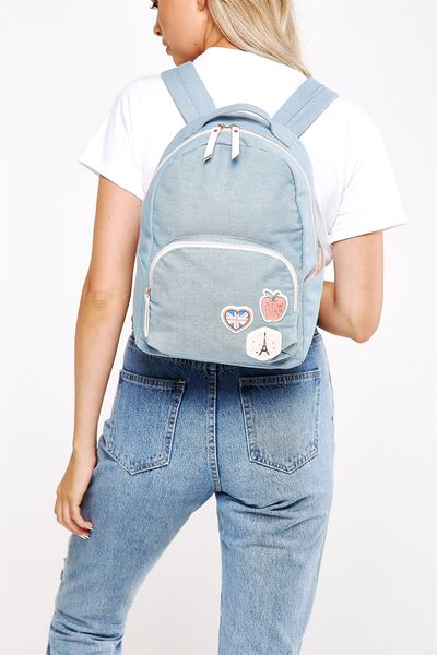 Get Set Backpack, CHAMBRAY PATCHES