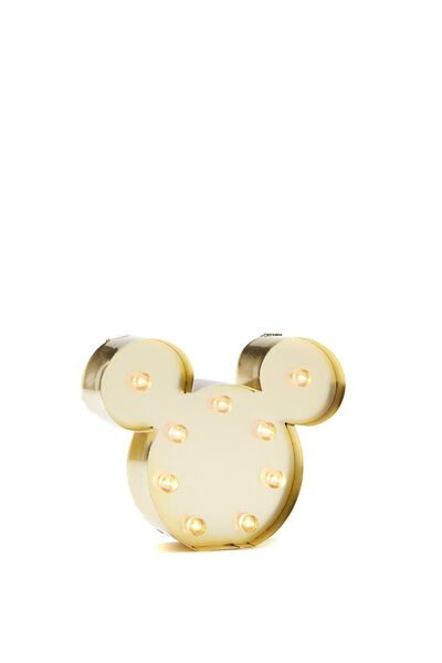 Shaped Mini Marquee Light, LCN MICKEY HEAD GOLD