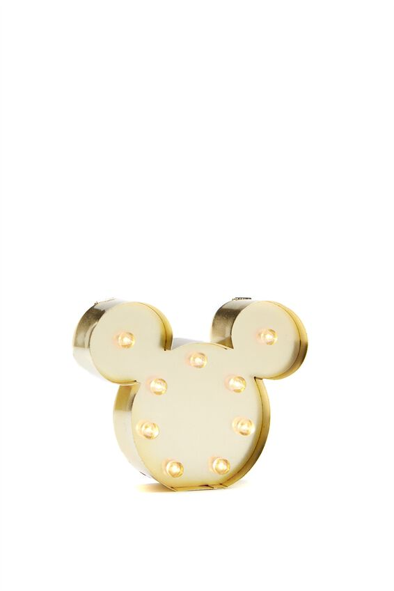 Shaped Mini Marquee Light, LCN MICKEY HEAD GOLD