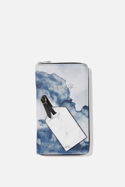 RFID Wanderer Travel Set, SMOKE MARBLE