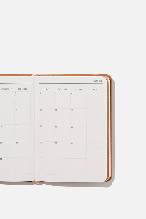 2021 A6 Weekly Buffalo Diary, MID TAN