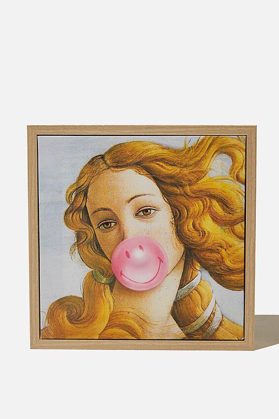 24 X 24 Smiley Mini Canvas Art, LCN SMILEY BUBBLEGUM