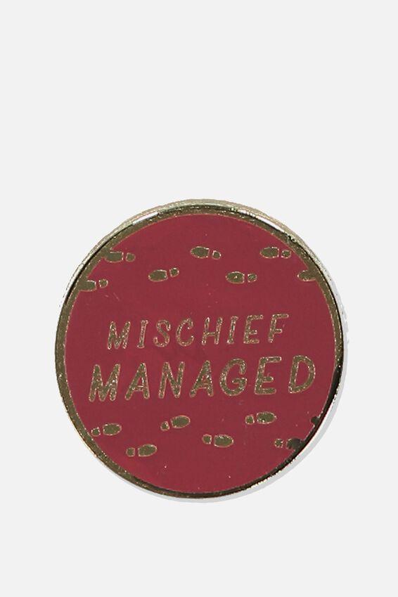 Harry Potter Enamel Badge, LCN WB MISCHIEF MANAGED