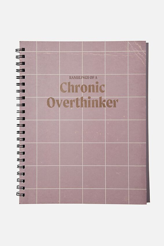 A4 Campus Notebook Recycled, CHRONIC OVERTHINKER