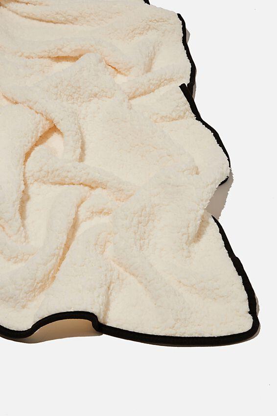 Convertible Cushion Throw, MAP BLACK DENIM