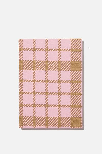 2021 A5 Oxford Weekly Diary, RETRO CHECK PLASTIC PINK