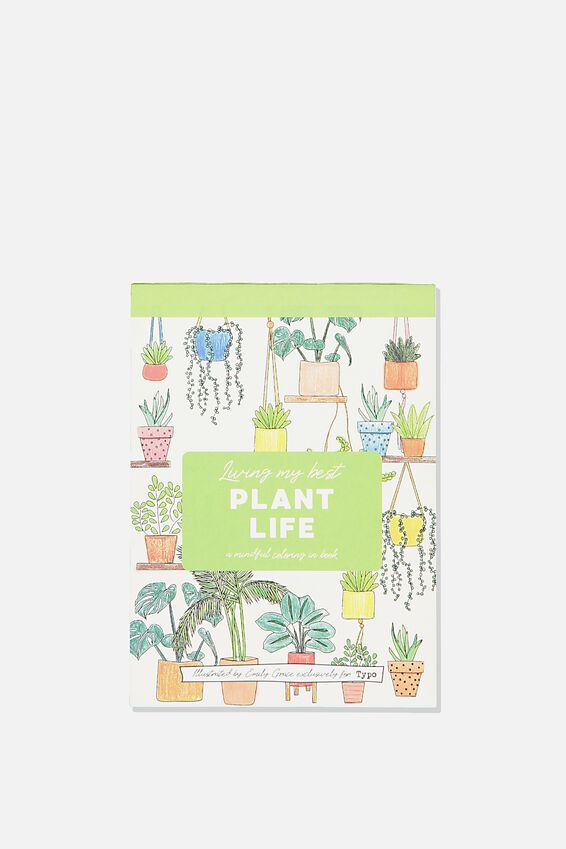 Post Card Colouring Book, PLANT LIFE
