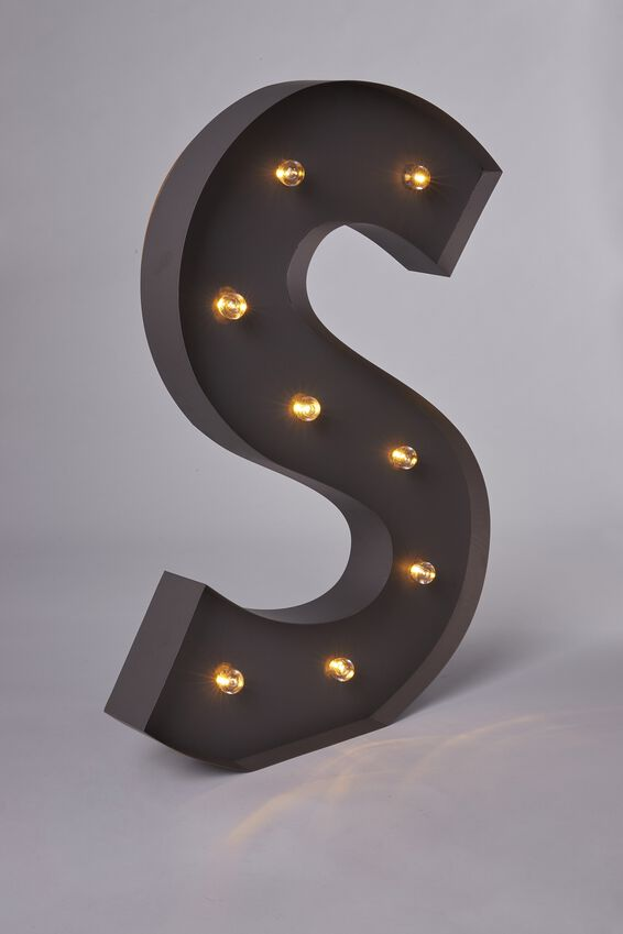 Marquee Letter Lights 70cm, SILVER S