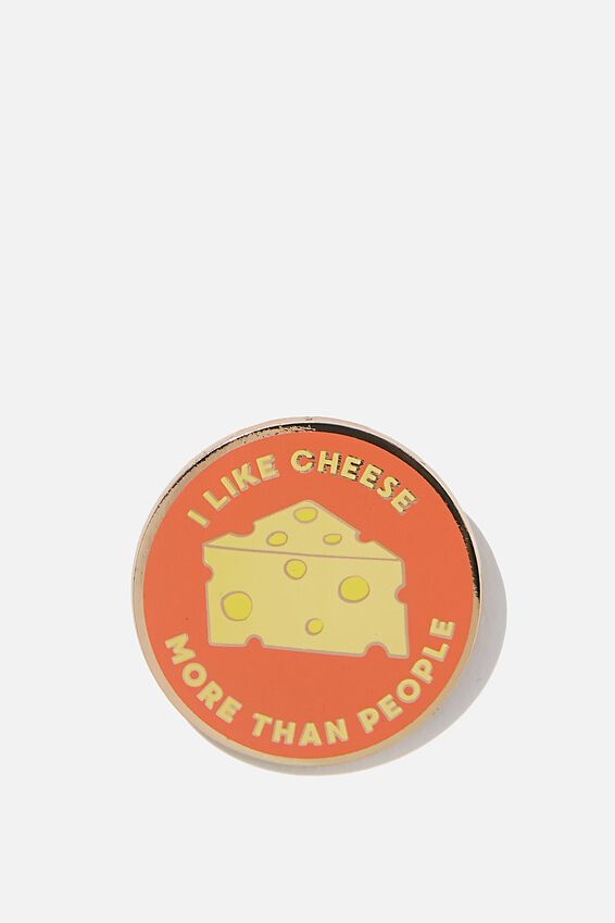 Enamel Badges, I LIKE CHEESE