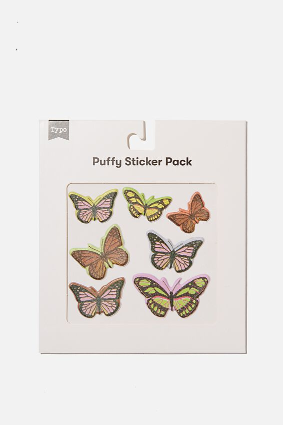 Puffy Sticker Pack, BUTTERFLY