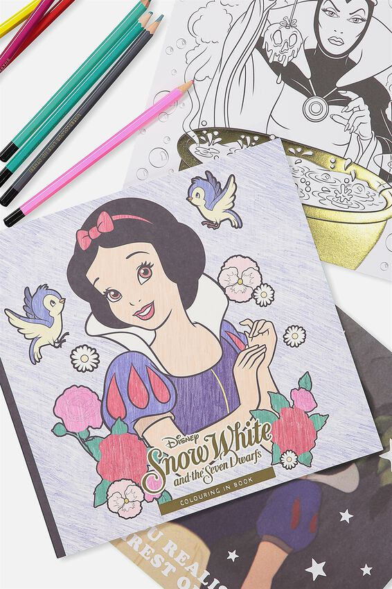 Between The Lines Colouring Book, LCN SNOW WHITE