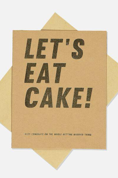 Wedding Card, LETS EAT CAKE CRAFT