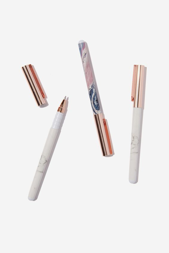 Flash Fash 3 Pk Pens, MARBLE COMBO