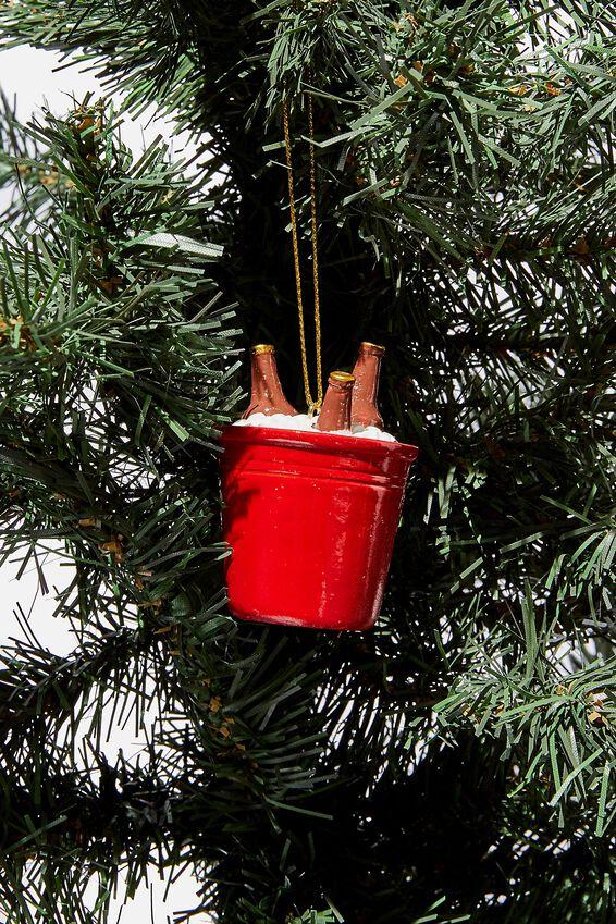 Christmas Ornament, BEER BUCKET