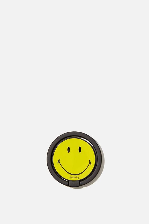 Smiley Metal Phone Ring, LCN SMI SMILEY FACE